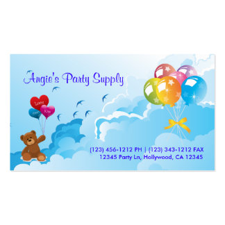 Fun Party Supplies Business Cards
