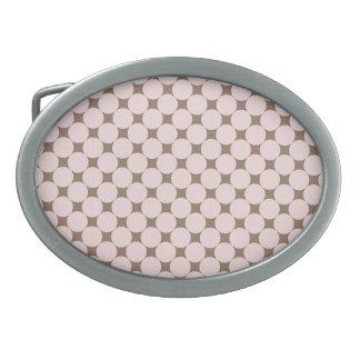 Fun Pastel Pink and Tan Polka Dots Gifts Belt Buckles