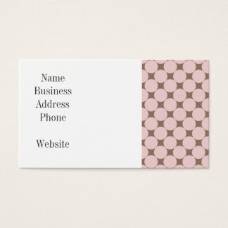 Fun Pastel Pink and Tan Polka Dots Gifts Business Card