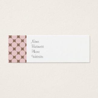 Fun Pastel Pink and Tan Polka Dots Gifts Mini Business Card
