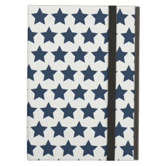 Fun Patriotic Navy Blue Stars 4th of July Pattern iPad Cases