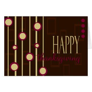 Fun Pattern Thanksgiving Card