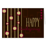 Fun Pattern Thanksgiving Stationery Note Card