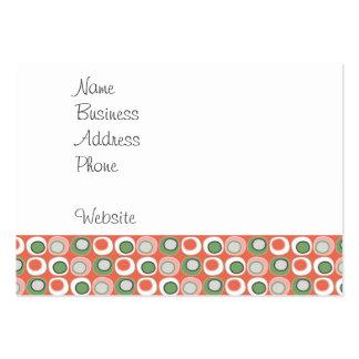 Fun Peach and Green Polka Dot Bubbles Pattern Business Card Template