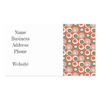 Fun Peach and Green Polka Dot Bubbles Pattern Business Card