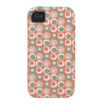 Fun Peach and Green Polka Dot Bubbles Pattern iPhone 4 Cover