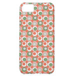 Fun Peach and Green Polka Dot Bubbles Pattern iPhone 5C Covers