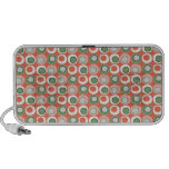 Fun Peach and Green Polka Dot Bubbles Pattern Travel Speaker