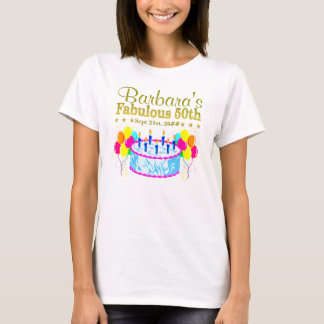 FUN PERSONALIZED AND DATED HAPPY 50TH TEE