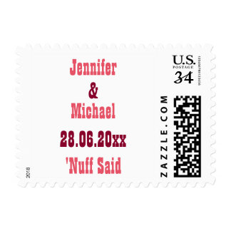 Fun Personalized Funny Save the Date Postage Stamp