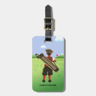 Fun Personalized Golfer on golf course Bag Tag