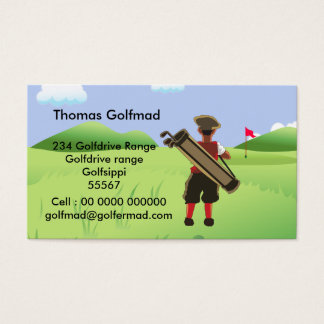 Fun Personalized Golfer on golf course Business Card
