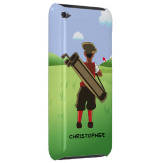 Fun Personalized Golfer on golf course iPod Touch Case