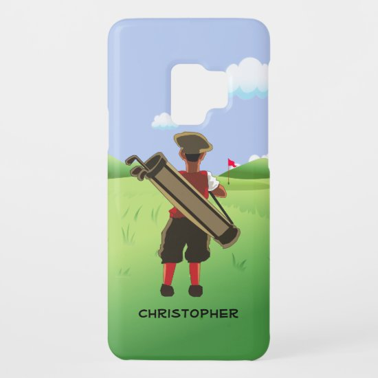 Fun Personalized Golfer on golf course Case-Mate Samsung Galaxy S9 Case