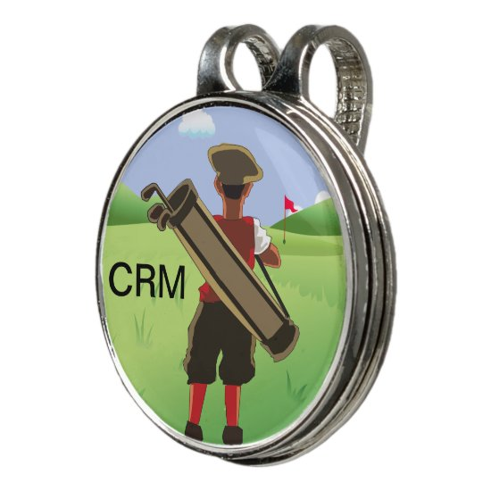 Fun Personalized Golfer on golf course Golf Hat Clip