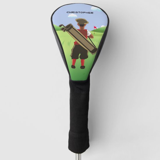 Fun Personalized Golfer on golf course Golf Head Cover