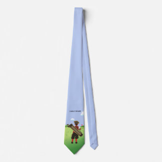 Fun Personalized Golfer on golf course Neck Tie