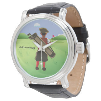 Fun Personalized Golfer on golf course Watch