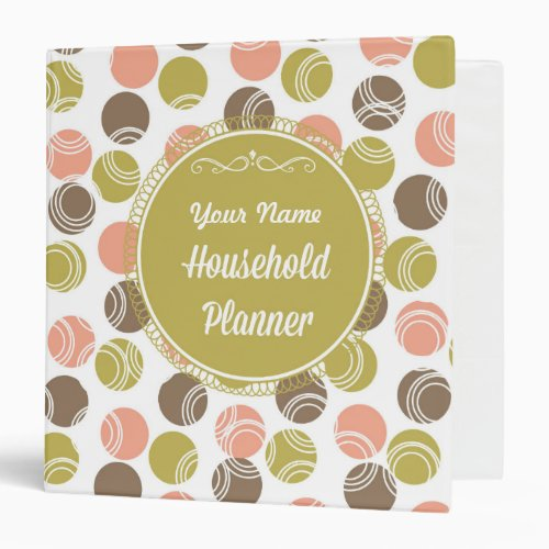Fun Personalized Home Management Binder