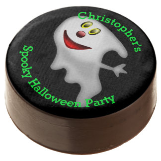 Fun personalized spooky ghost Halloween party Chocolate Covered Oreo
