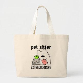 Fun Pet Sitter Extraordinaire Jumbo Tote Bag