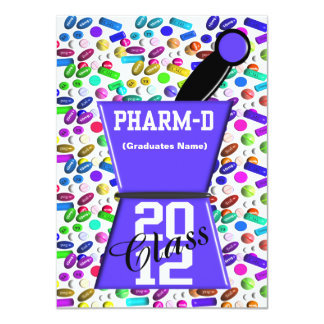 Fun Pharm-D Graduation Invitations