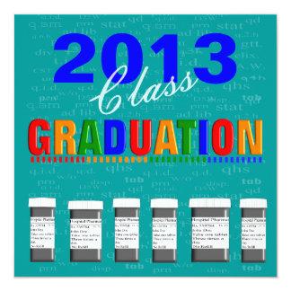 Fun Pharm-D Graduation Invitations 2013 Teal