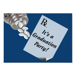 Fun Pharmacist Graduation Party Invitations