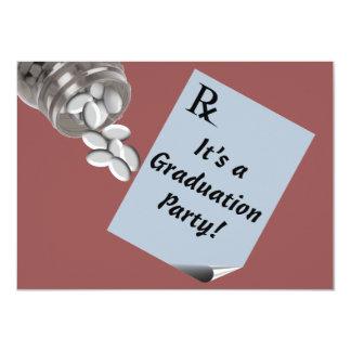 "Fun Pharmacist Graduation Party Invitations Btown 4.5"" X 6.25"" Invitation Card"