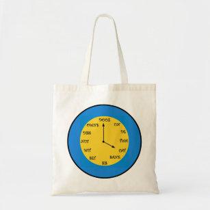 Fun Phonetic Clock Tote Bag
