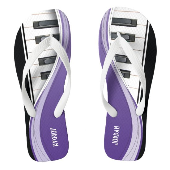 Fun Piano Design With Purple Swoosh Flip Flops