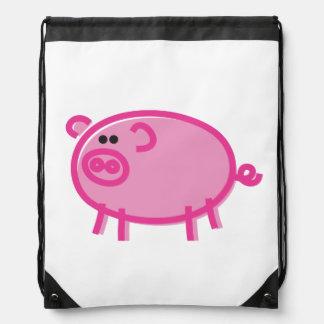 Fun Pig on White Rucksacks