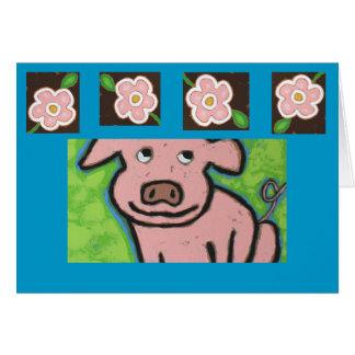 Fun piggie card