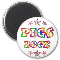 Fun Pigs Rock Magnet