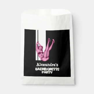 Fun pin up girl personalized bachelorette party favor bag