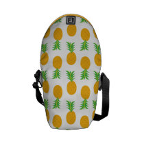 Fun Pineapple Pattern Courier Bag