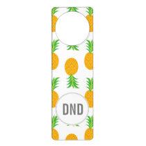 Fun Pineapple Pattern Door Hanger