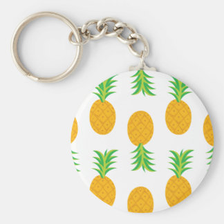 Fun Pineapple Pattern Keychain