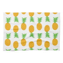 Fun Pineapple Pattern Kitchen Towel