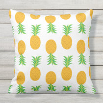 Fun Pineapple Pattern outdoor pillow