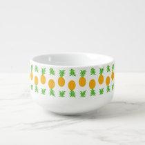 Fun Pineapple Pattern Soup Mug