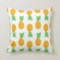 Fun Pineapple Pattern Throw Pillow
