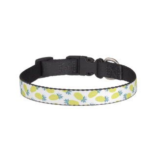Fun Pineapples Pattern Pet Collar