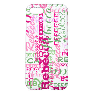 Fun Pink and Green Fun Name Collage Allover iPhone 7 Case