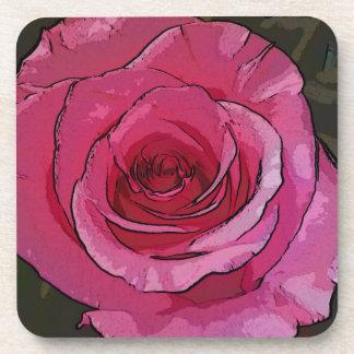 Fun Pink Artistic Chic Rose Petals Coaster