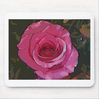 Fun Pink Artistic Chic Rose Petals Mouse Pad