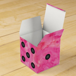 Fun Pink Bunco Dice Party Favor Box