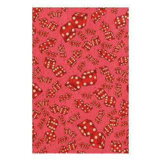 Fun pink dice pattern cork paper prints