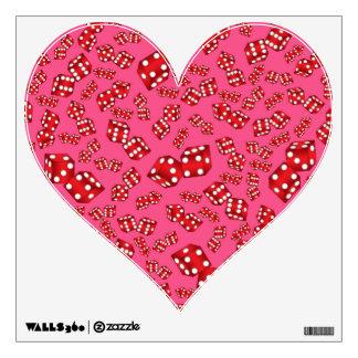 Fun pink dice pattern wall graphics