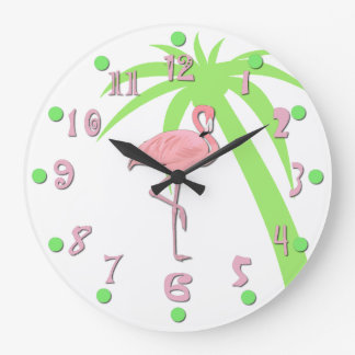 Fun Pink Flamingo Wall Clock